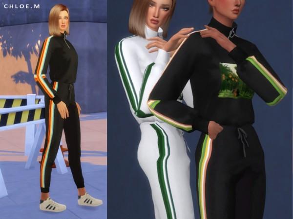The Sims Resource: ChloeM Sports wear Top by ChloeMMM