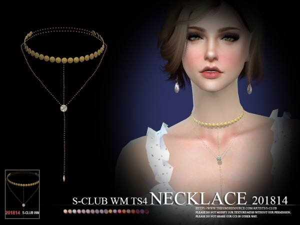 The Sims Resource: Necklace F 201814 by S Club