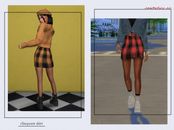 The Sims Resource: Clinquant Skirt by  cosimetics