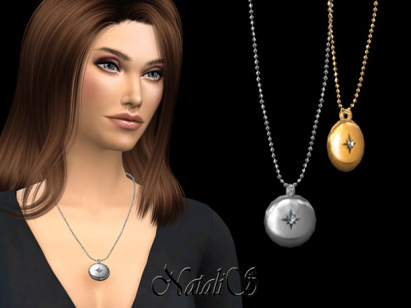 The Sims Resource: Round locket necklace by NataliS