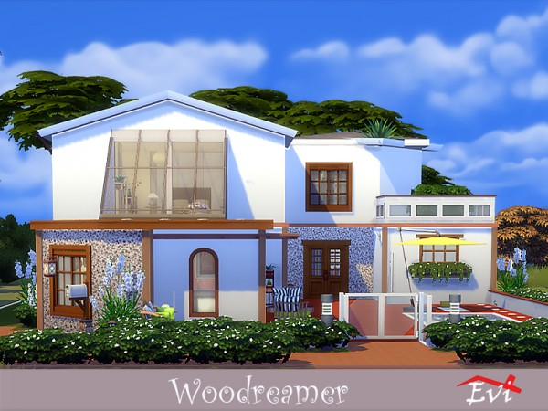 The Sims Resource: Woodreamer house by evi