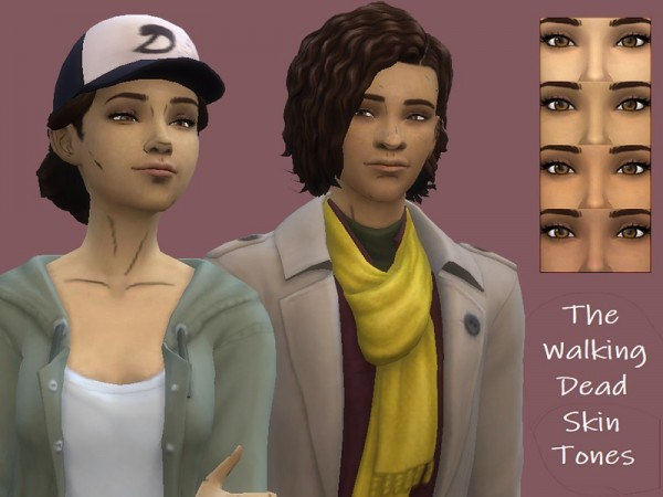 The Sims Resource: The Walking Dead Skin Tones by TheComic