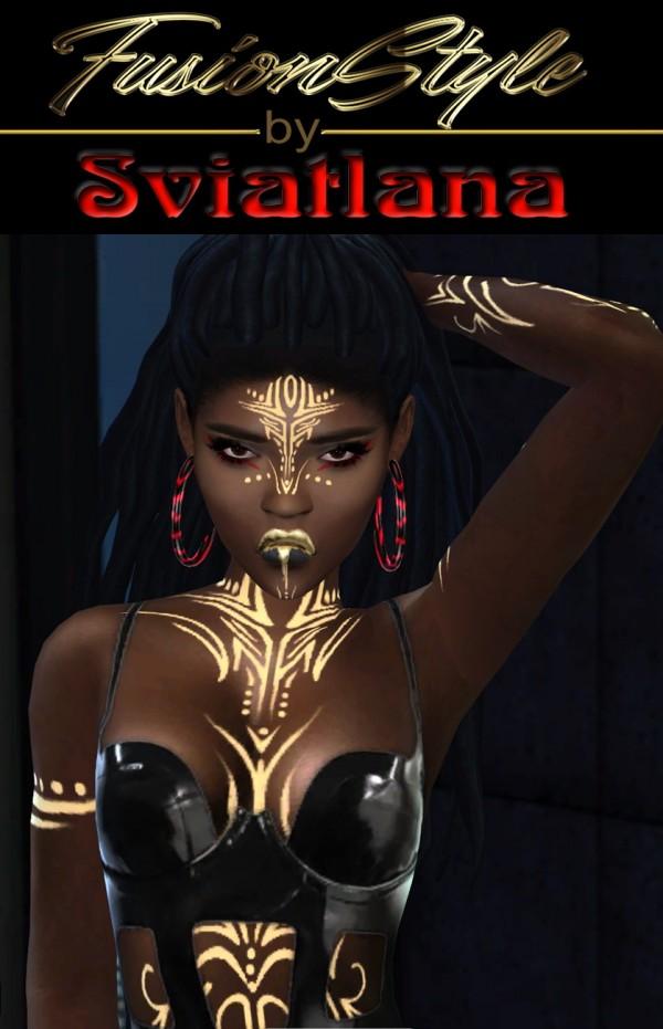 Fusion Style: Liquid gold lipstick by Sviatlana