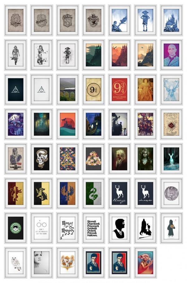 Simplistic: Harry Potter Art Prints