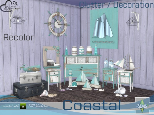 The Sims Resource: Coastal Living Decoration Recolor by BuffSumm