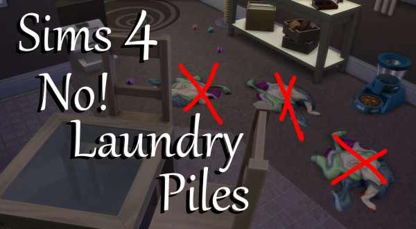 Mod The Sims: No! Laundry Piles by PolarBearSims