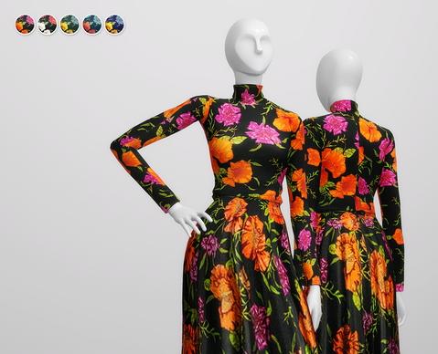 Rusty Nail: Skater Embellished Floral Print Dress