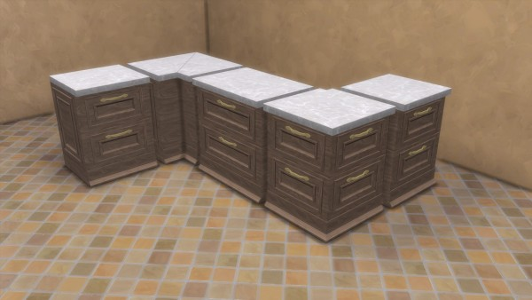 Mod The Sims: Modern Ranch Counter, Islands and Cabinets by TheJim07