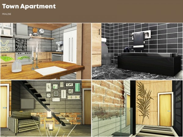 The Sims Resource: Town Apartment by Pralinesims
