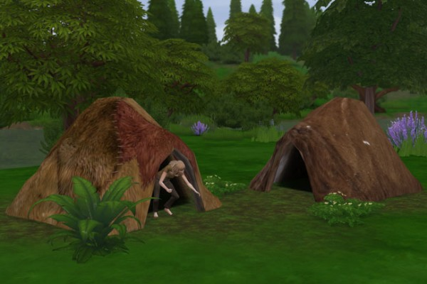 Blackys Sims 4 Zoo: Fur tent by mammut