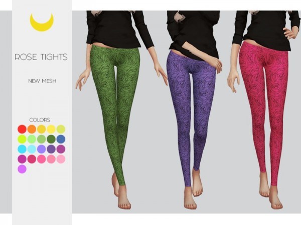 The Sims Resource: Leggings   Rose Tights by Kalewa a