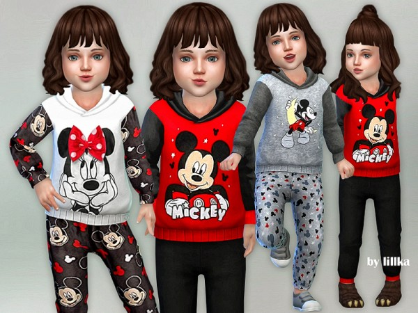 The Sims Resource: Mickey Mouse Jumpsuit by lillka