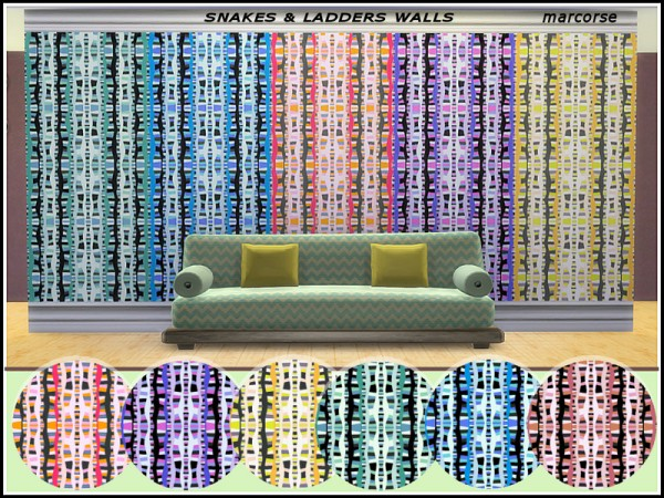 The Sims Resource: Snakes and Ladders Walls by marcorse