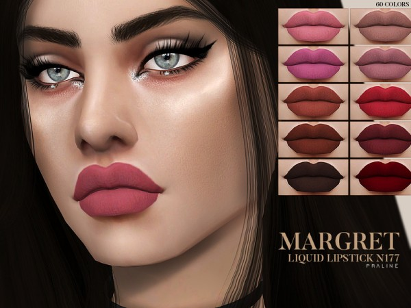 The Sims Resource: Margret Liquid Lipstick N177 by Pralinesims