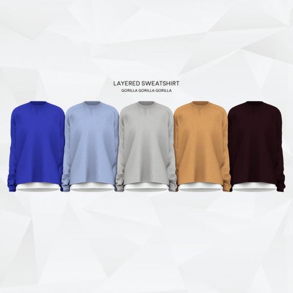 Gorilla: Layered Sweatshirt