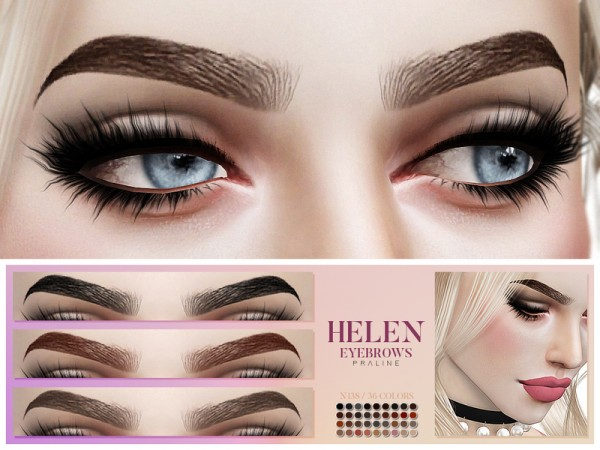 The Sims Resource: Helen Eyebrows N138 by Pralinesims