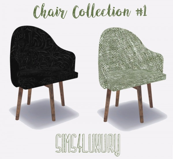 Sims4Luxury: Chair Collection 1