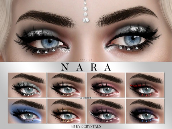 The Sims Resource: Nara 3D Eye Crystal Glitter by Pralinesims