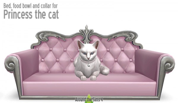 Around The Sims 4 Small Dog And Cat Bed Food Bowl And