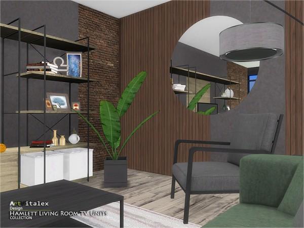 The Sims Resource: Hamlett Living Room TV Units by ArtVitalex