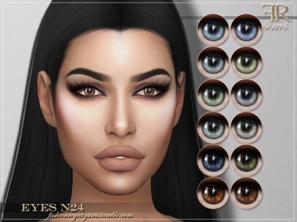The Sims Resource: Eyes N24 by FashionRoyaltySims