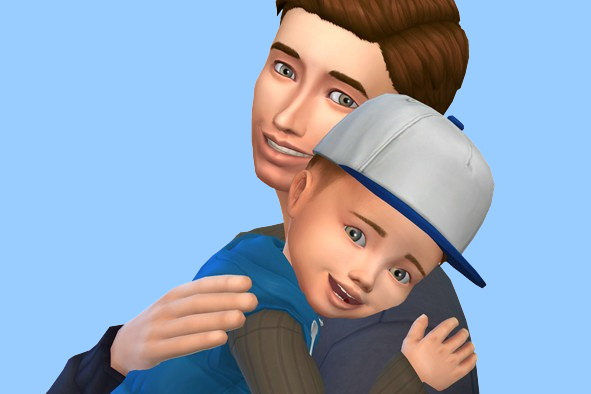 Models Sims 4: Father and Son
