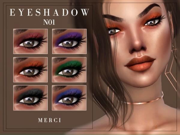 The Sims Resource: Eyeshadow N01 by Merci