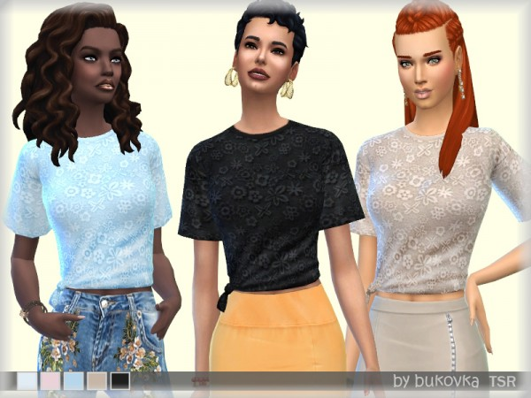 The Sims Resource: T Shirt Lace by bukovka