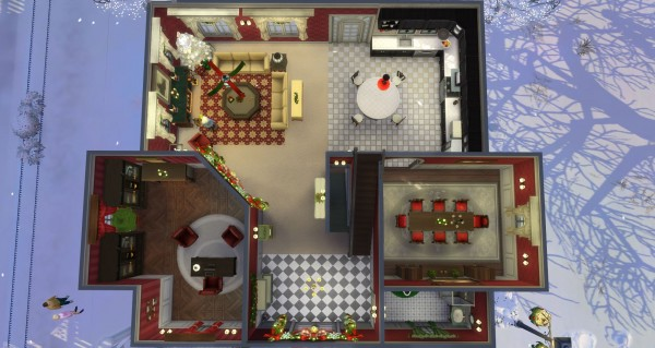 Mod The Sims: Christmas House 2018   NO CC by Marjia