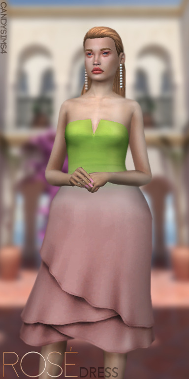 Candy Sims 4: Rose Dress