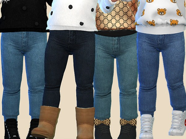 The Sims Resource: Denim Jeans For Toddler 015 by Pinkzombiecupcakes