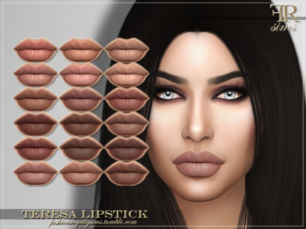 The Sims Resource: Teresa Lipstick by FashionRoyaltySims