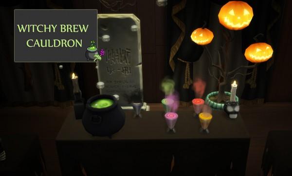 Mod The Sims: Witchy Brew Cauldron by icemunmun