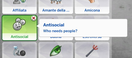Mod The Sims: Antisocial Trait by Daleko