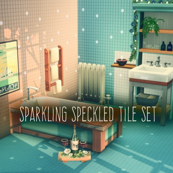 Picture Amoebae: Sparkling Speckled Tile Set
