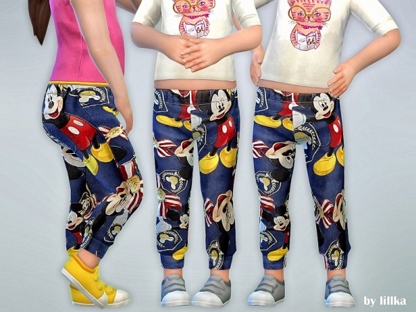 The Sims Resource: Mickey Print Leggings by lillka