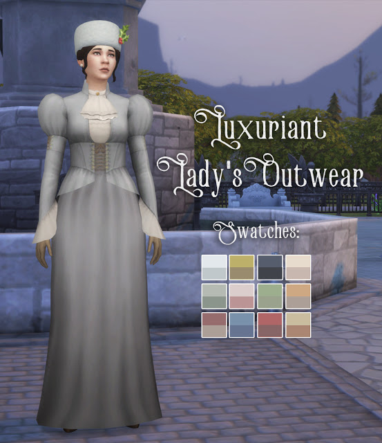 History Lovers Sims Blog: Luxuriant Ladys Outwear