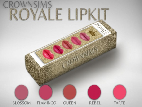 The Sims Resource: Royal Lipkit 01 by CrownSims