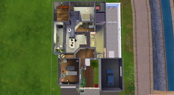 Mod The Sims: Nosedive house  by kinglauti