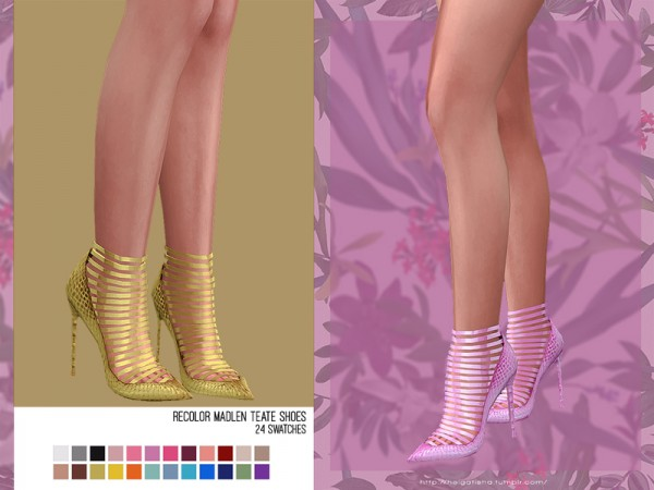 The Sims Resource: Madlen`s Teate Shoes Recolored by HelgaTisha