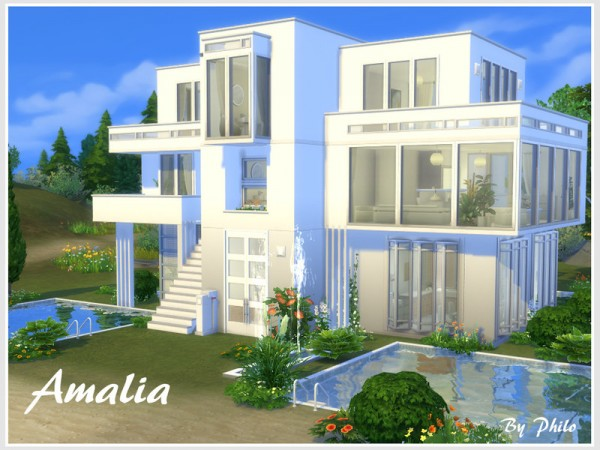The Sims Resource: Amalia house   No CC by philo