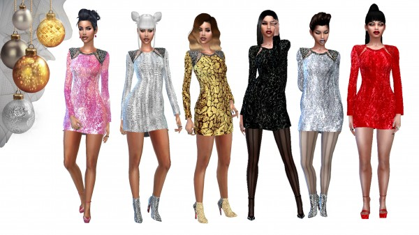 Dreaming 4 Sims: A little glitter and shimmer dress