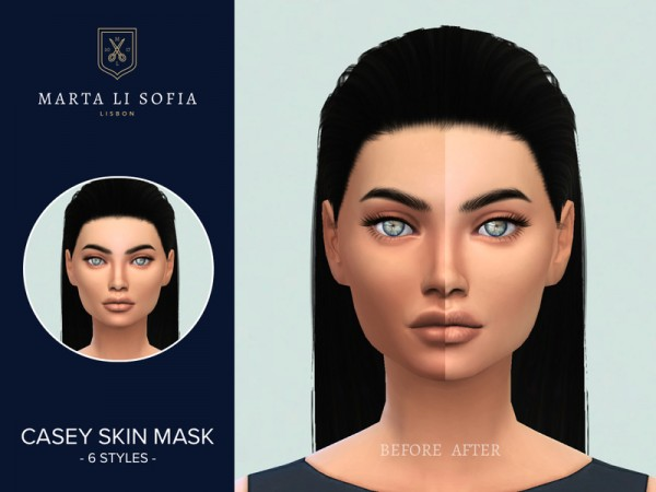 The Sims Resource: Casey Skin Mask by martalisofia