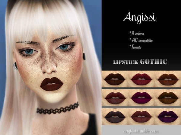The Sims Resource: Lipstick Gothic by ANGISSI