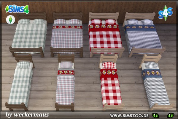 Blackys Sims 4 Zoo: Has a blanket bedding by weckermaus