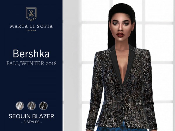 The Sims Resource: Sequins Blazer by martalisofia