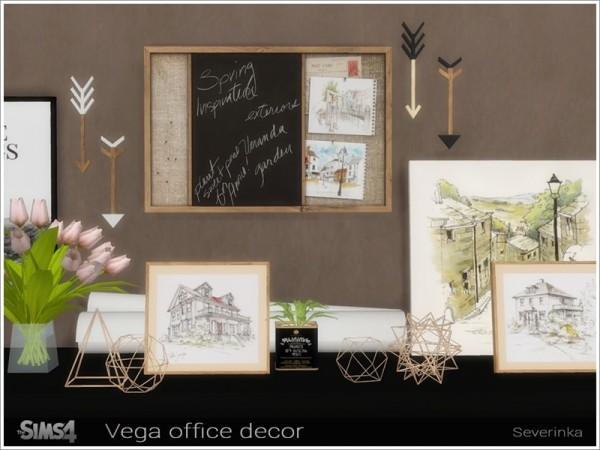 The Sims Resource: Vega office decor by Severinka