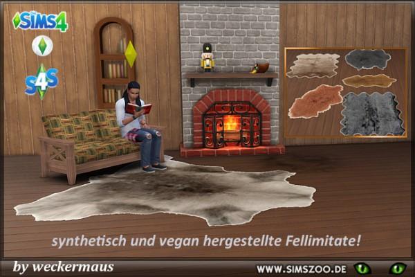 Blackys Sims 4 Zoo: Fur blanket by weckermaus
