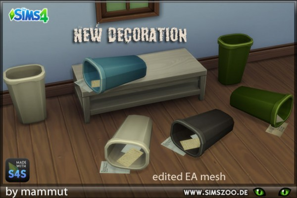 Blackys Sims 4 Zoo: Dust bin lying down decor