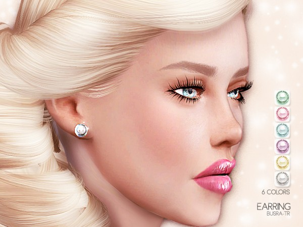 The Sims Resource: Pearly Earring BE04 by busra tr